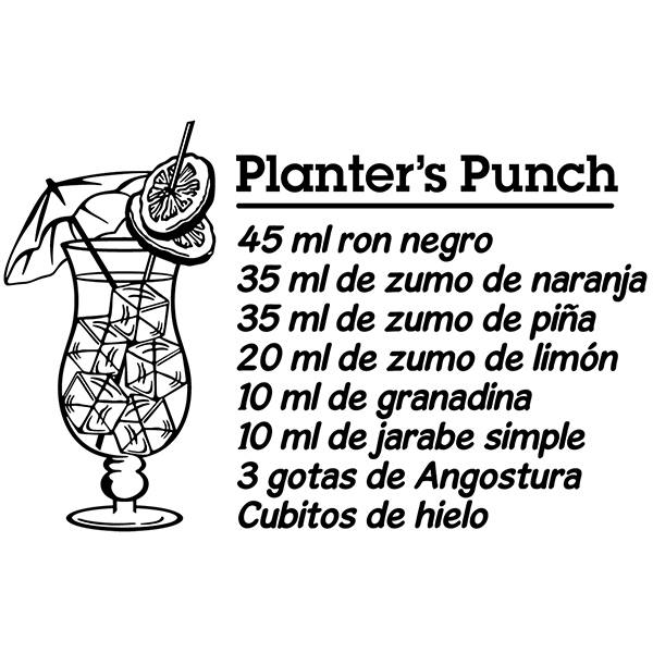 Wandtattoos: Cocktail Planter's Punch - spanisch