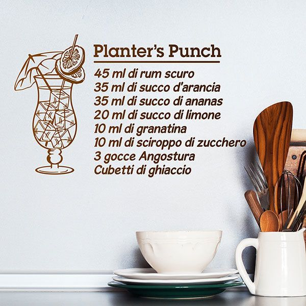 Wandtattoos: Cocktail Planter's Punch - italienisch