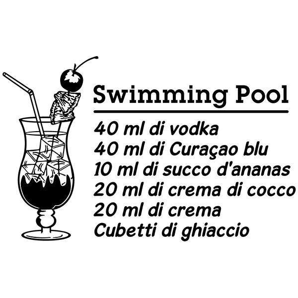 Wandtattoos: Cocktail Swimming Pool - italienisch