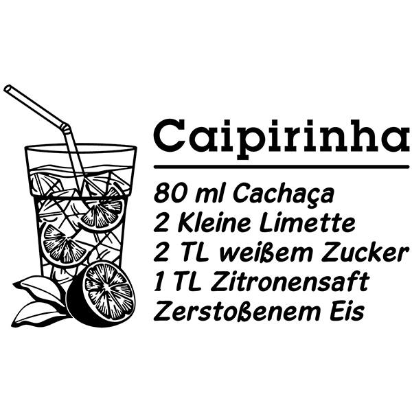 Wandtattoos: Cocktail Caipirinha - deutsch