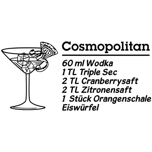 Wandtattoos: Cocktail Cosmopolitan - deutsch