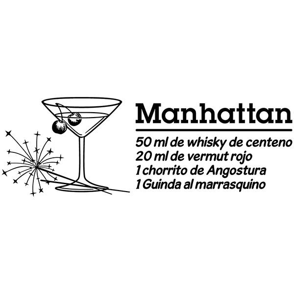 Wandtattoos: Cocktail Manhattan - spanisch