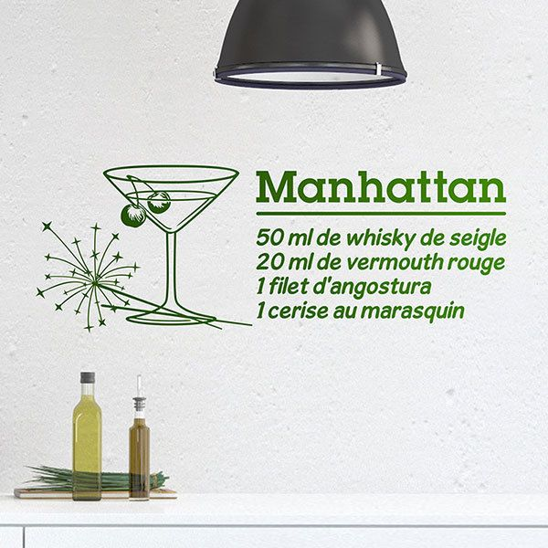 Wandtattoos: Cocktail Manhattan - französisch