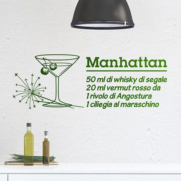 Wandtattoos: Cocktail Manhattan - italienisch 0