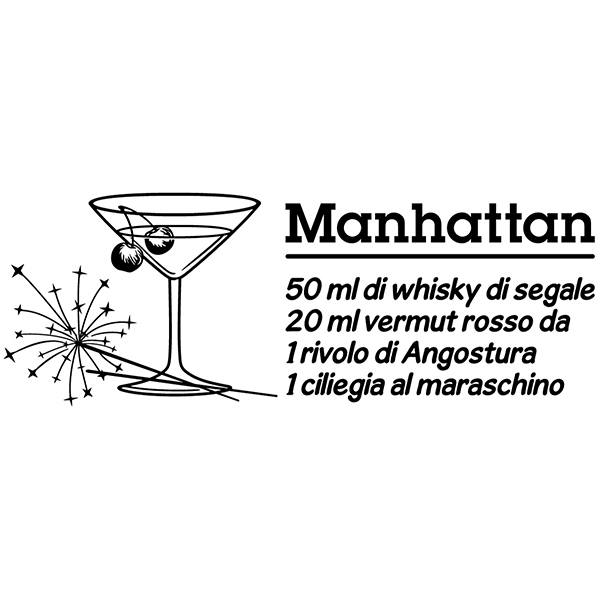 Wandtattoos: Cocktail Manhattan - italienisch