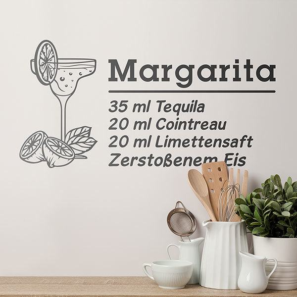Wandtattoos: Cocktail Margarita - deutsch