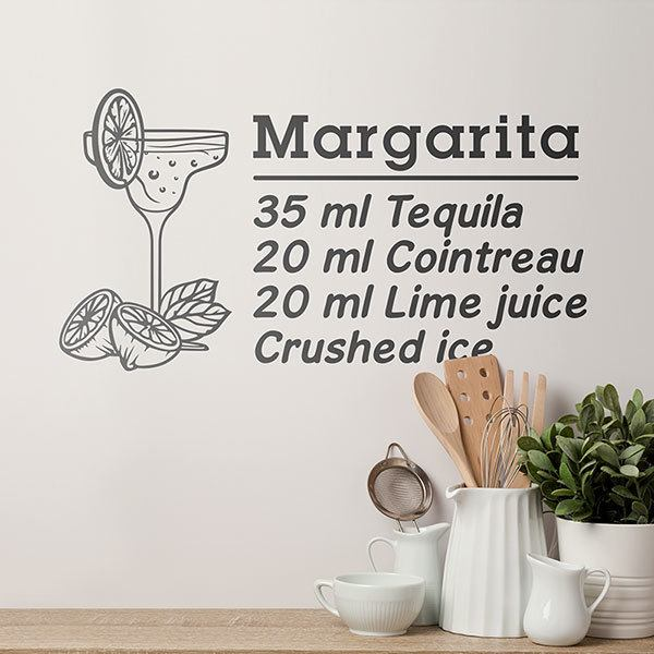 Wandtattoos: Cocktail Margarita - englisch 0