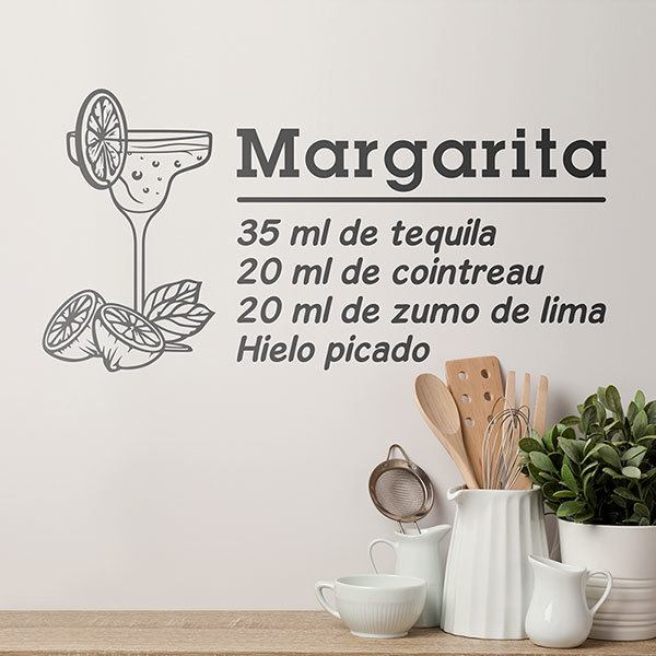 Wandtattoos: Cocktail Margarita - spanisch 0