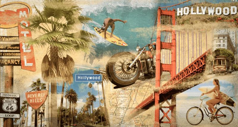 Fototapeten: Collage California