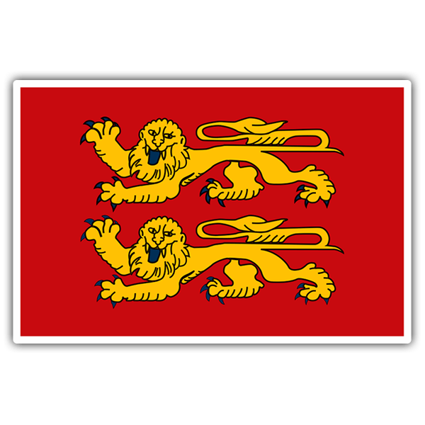 Aufkleber: Flagge Normandy
