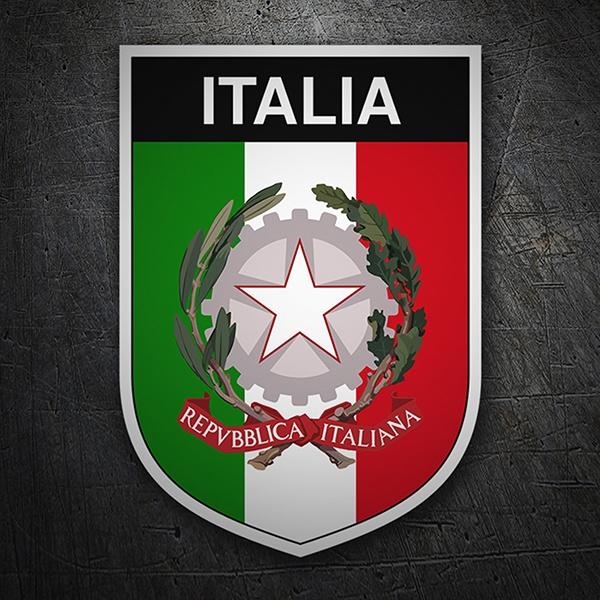Aufkleber Mit Italienische Flagge