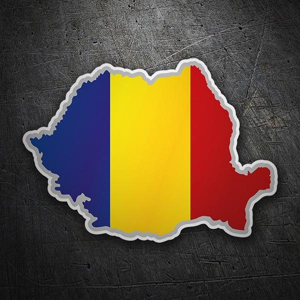 Karte Flagge Rumänien