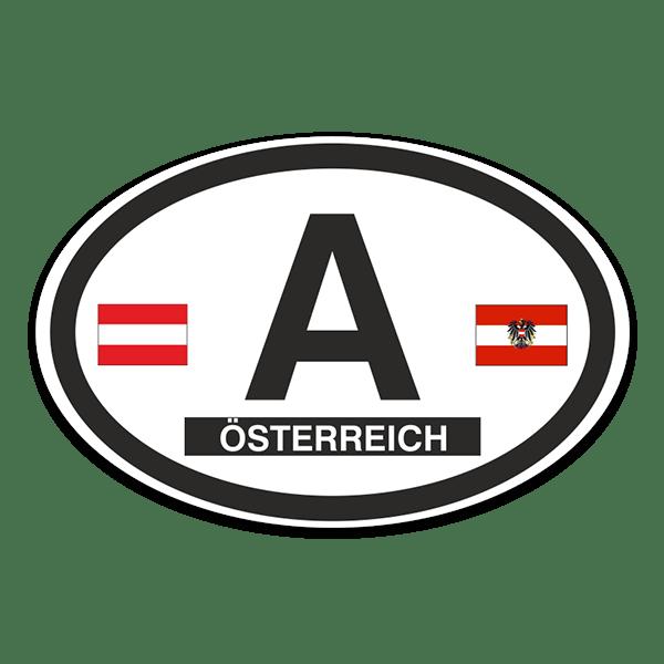 Aufkleber: Österreich