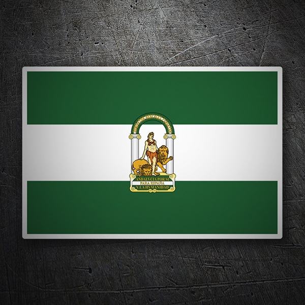 Aufkleber: Flagge Andalusien