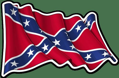 Aufkleber: Rebel Confederate Flag