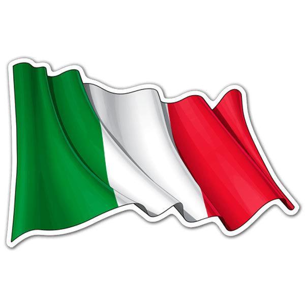 aufkleber italienflagge winken webwandtattoocom