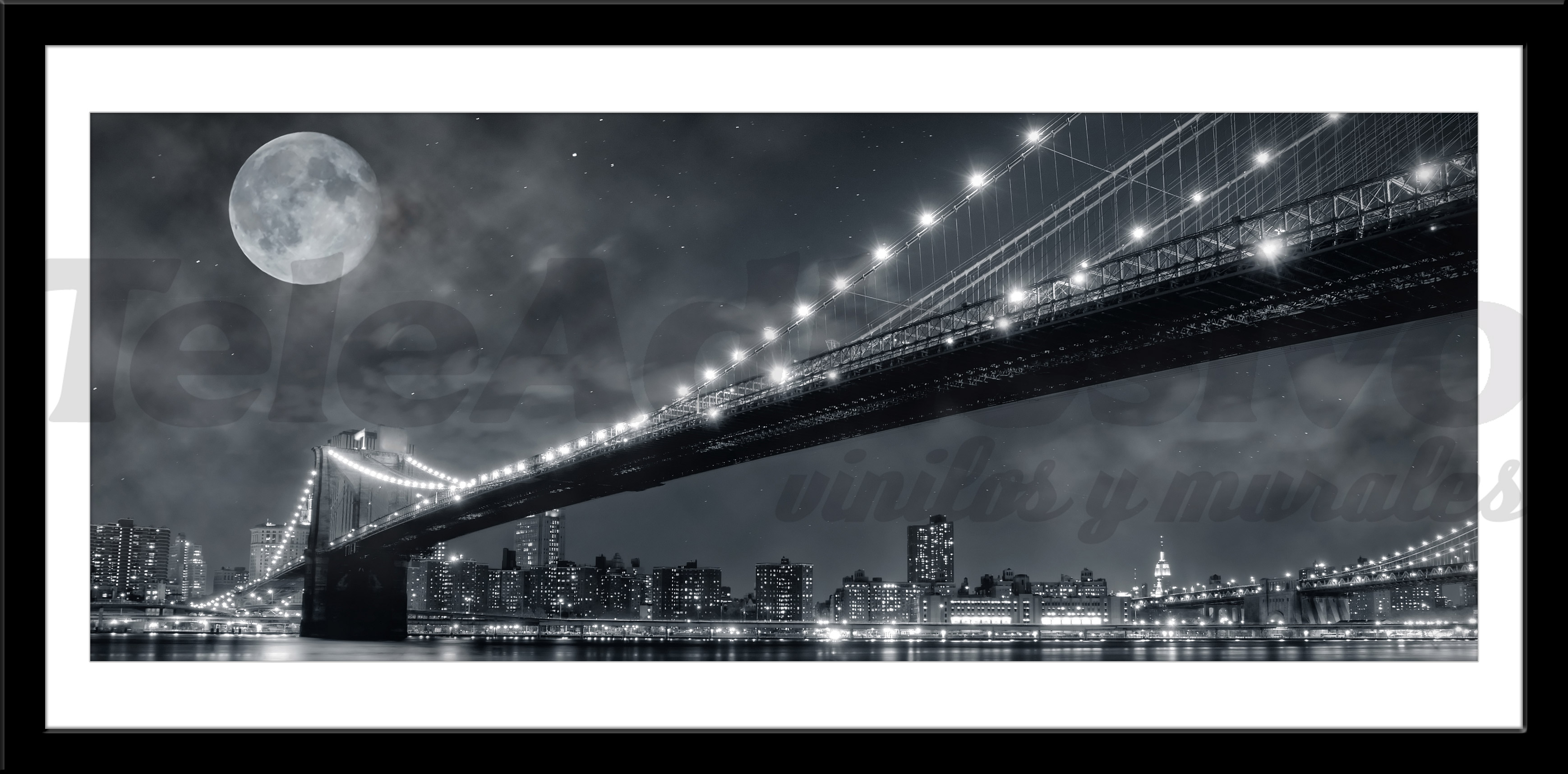 Wandtattoos: Big Bridge Nacht