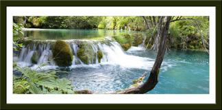 Wandtattoos: Vegetation und der Fluss-und Wasserfall 3