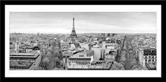 Wandtattoos: Skyline de París 1