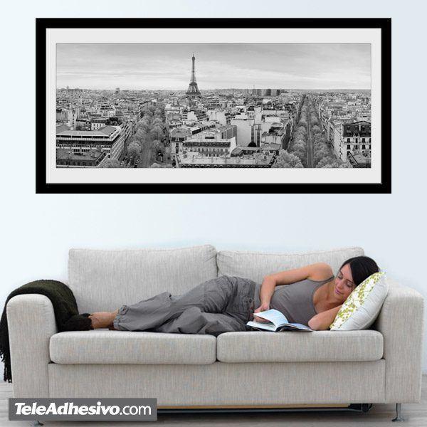 Wandtattoos: Skyline de París