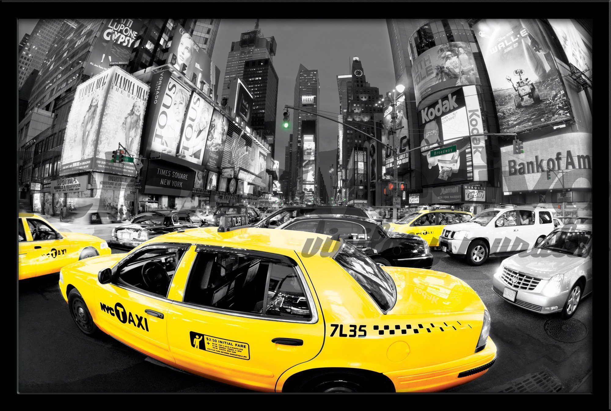 Wandtattoos: Taxi in Times Square