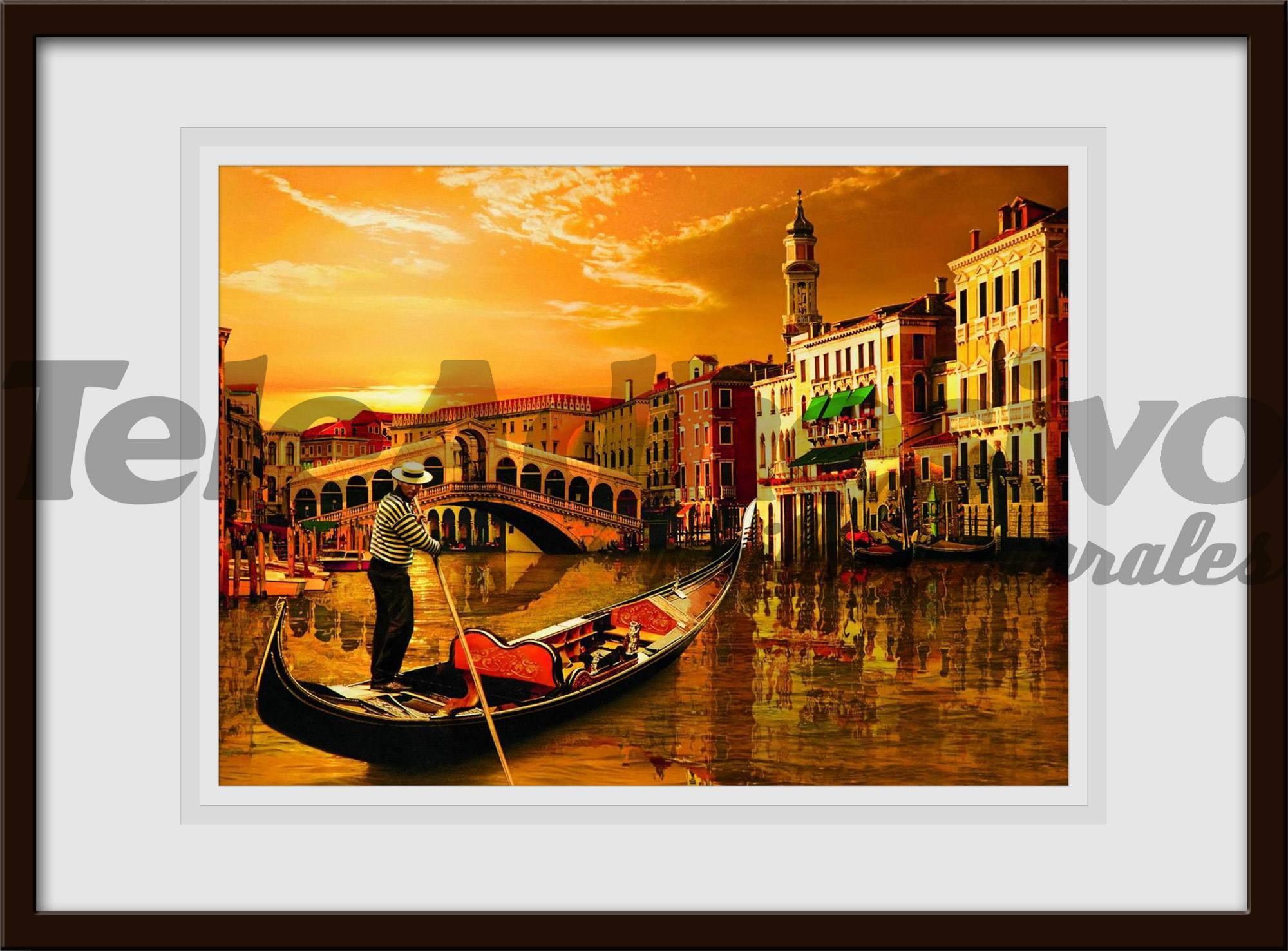 Wandtattoos: Gondel in Venedig