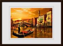 Wandtattoos: Gondel in Venedig 1