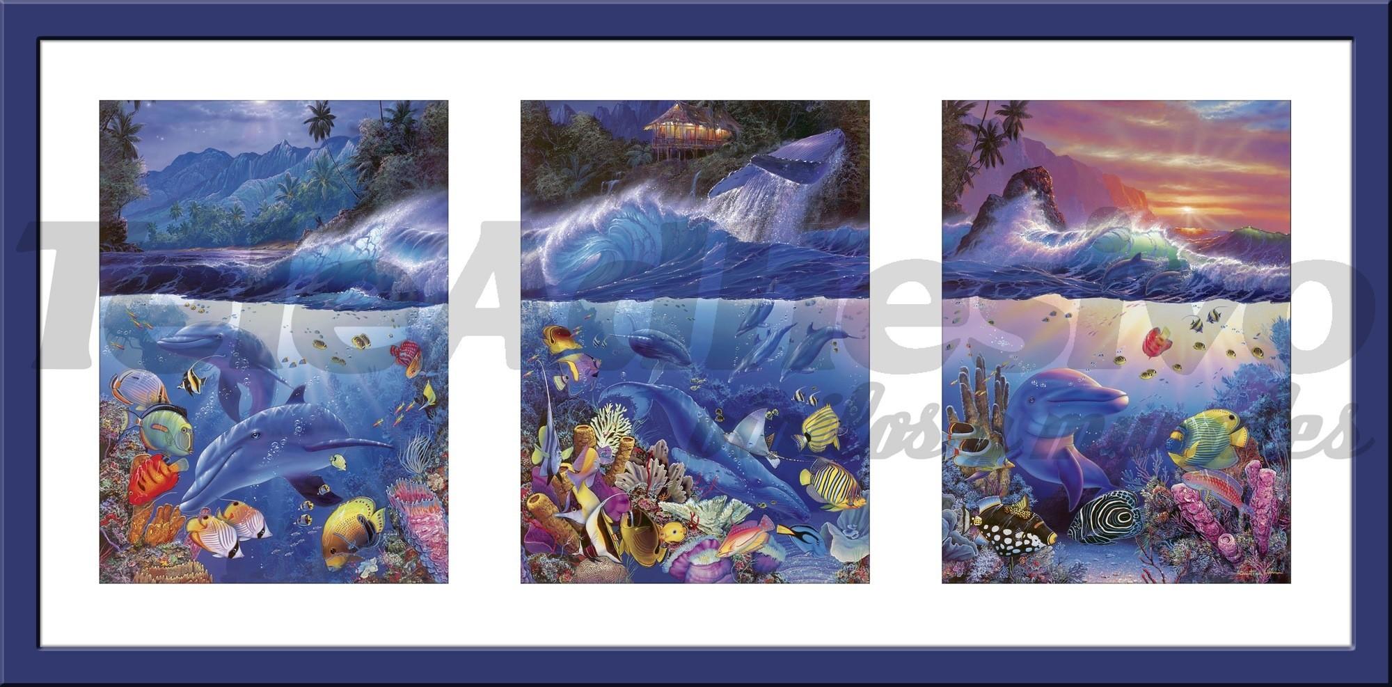 Wandtattoos Triptychon Meeresboden