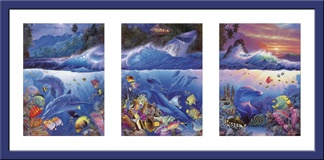 Wandtattoos: Triptychon Meeresboden 3