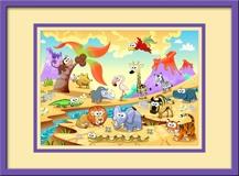 Kinderzimmer Wandtattoo: Tiere durch den Fluss 3