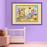 Kinderzimmer Wandtattoo: Tiere durch den Fluss 4