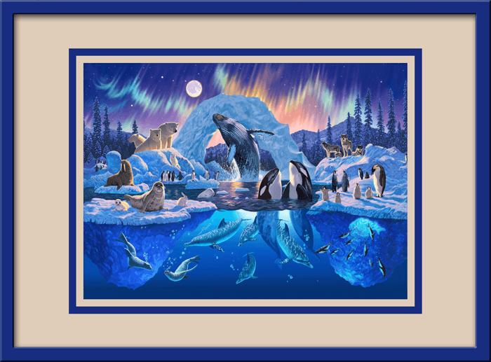 Kinderzimmer Wandtattoo: Harmonie in der Arktis