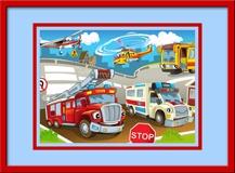 Kinderzimmer Wandtattoo: Einsatzfahrzeuge 3