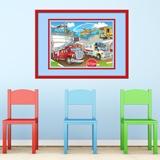 Kinderzimmer Wandtattoo: Einsatzfahrzeuge 5
