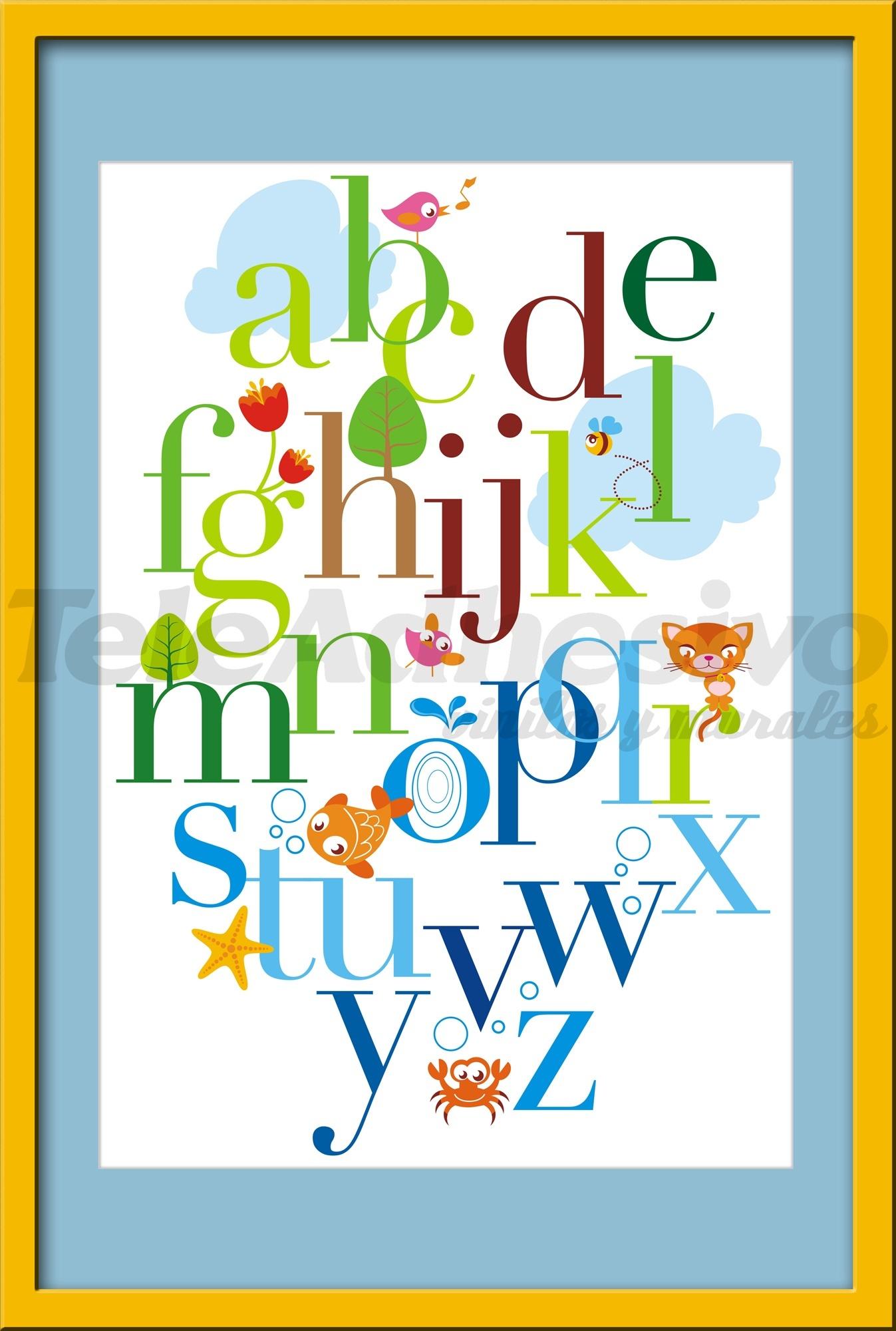 Kinderzimmer Wandtattoo: Alphabet 2