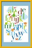 Kinderzimmer Wandtattoo: Alphabet 2 1