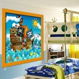 Kinderzimmer Wandtattoo: Piratenschiff 4
