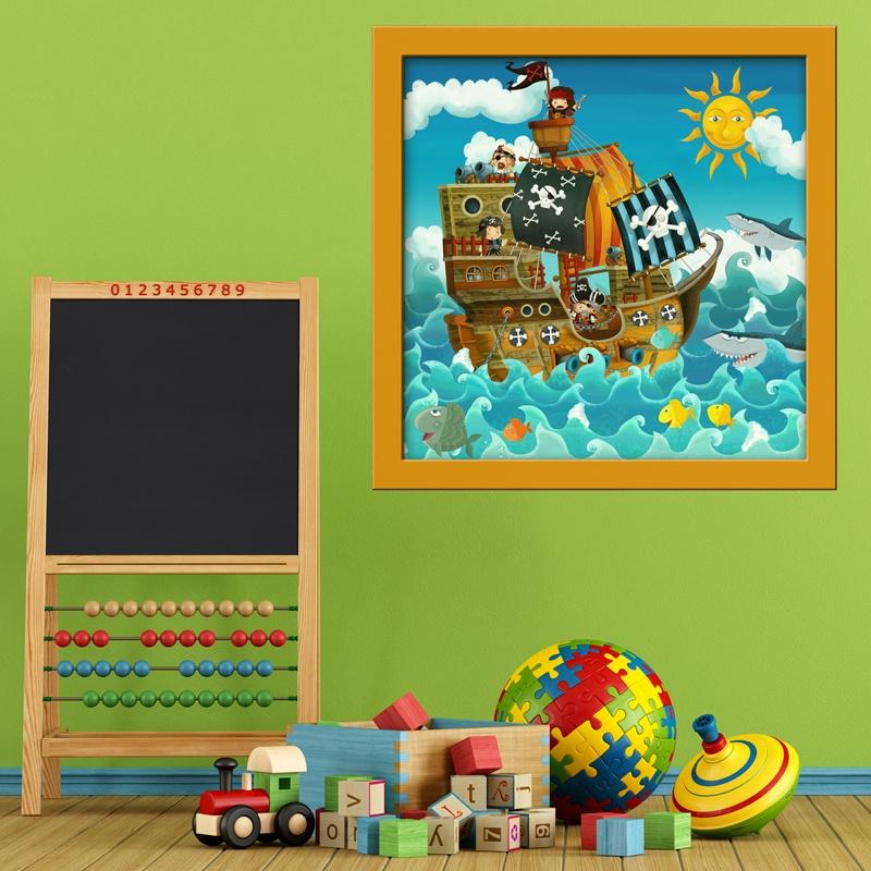 Kinderzimmer Wandtattoo: Piratenschiff