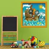 Kinderzimmer Wandtattoo: Piratenschiff 5