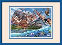 Kinderzimmer Wandtattoo: Land und Meer 1