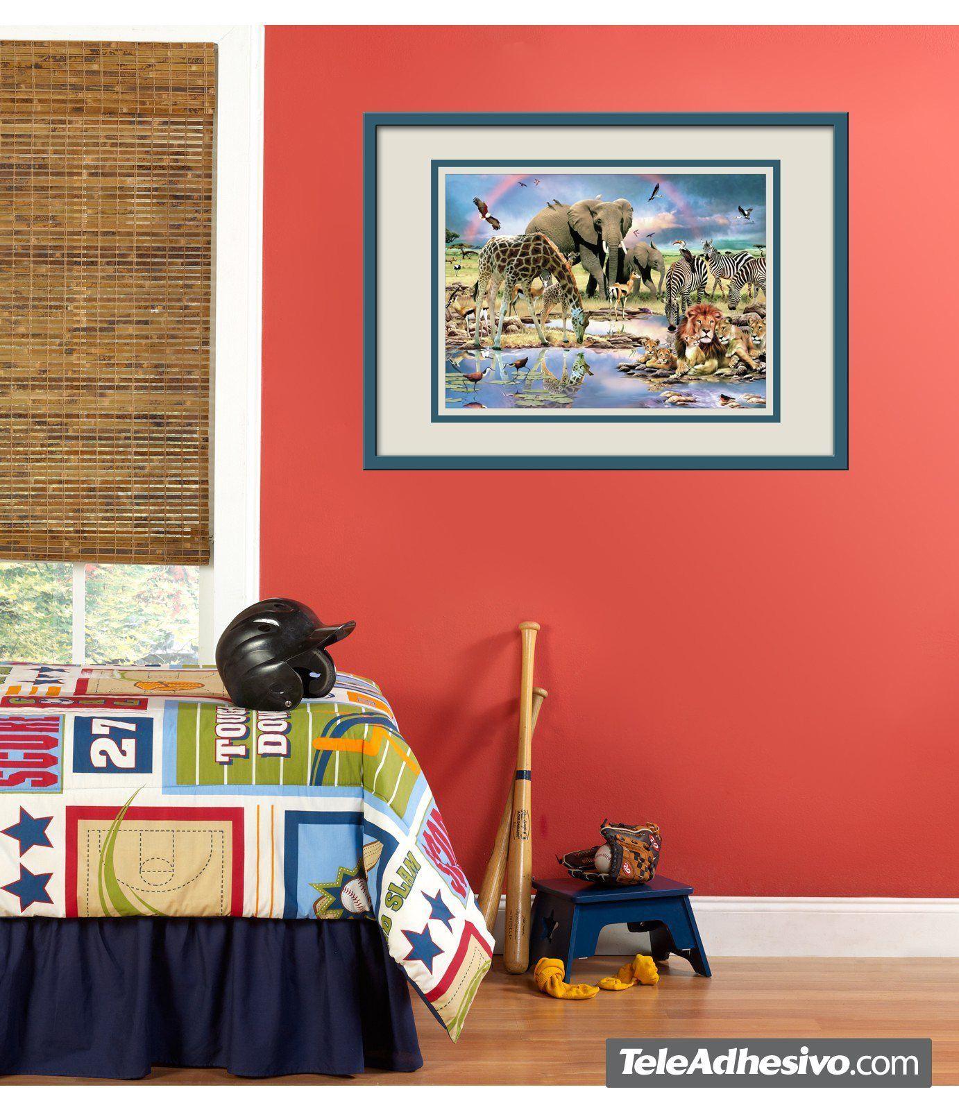 Kinderzimmer Wandtattoo: Treffen am Savannah