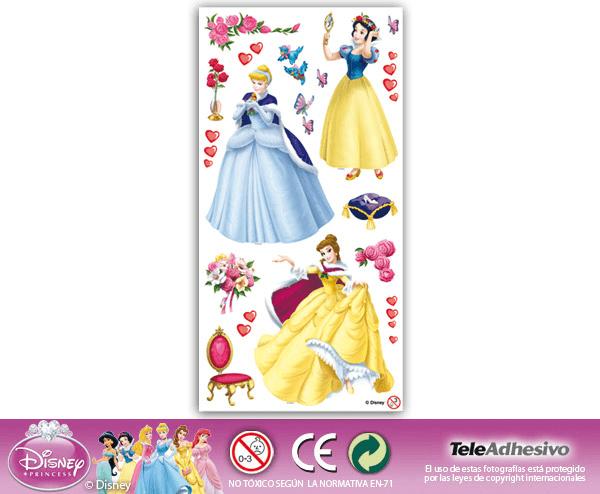 Kinderzimmer Wandtattoo: Prinzessinnen 22x48 cm