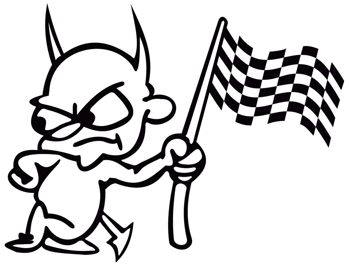 Aufkleber: Devil racing