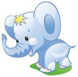 Kinderzimmer Wandtattoo: Elefant 2