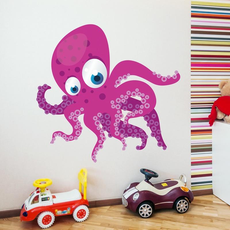 Kinderzimmer Wandtattoo: Octopus
