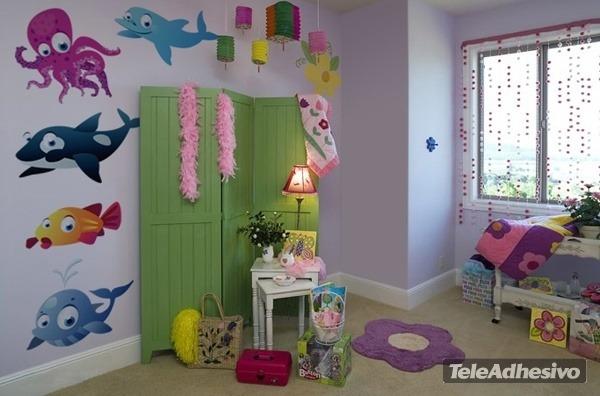 Kinderzimmer Wandtattoo: Whale