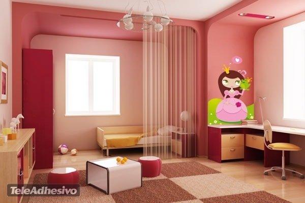 Kinderzimmer Wandtattoo: Princess and Toad