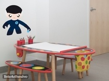 Kinderzimmer Wandtattoo: Flexible Mann 3