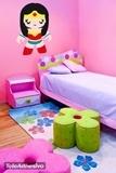 Kinderzimmer Wandtattoo: Super Heroine 3