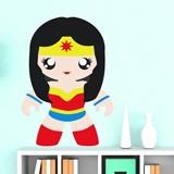 Kinderzimmer Wandtattoo: Super Heroine 4